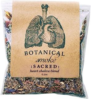 Anima Mundi Botanical Sacred Smoke - Organic & Wildcrafted Loose Herbal Blend with Mugwort, Rose Petals & Calendula Flower...