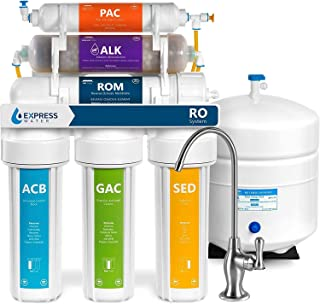 Express Water ROALK5D Reverse Osmosis Alkaline Water Filtration System – 10 Stage RO..