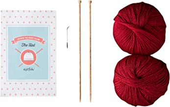 Knit Picks Learn to Knit Club: The Hat - Beginner Knitting Kit (Red)