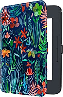 Fintie Nook GlowLight 3 SlimShell Case, Ultra Thin and Lightweight PU Leather Protective Cover for Barnes and Noble Nook GlowLight 3 eReader 2017 Release Model BNRV520, Jungle Night