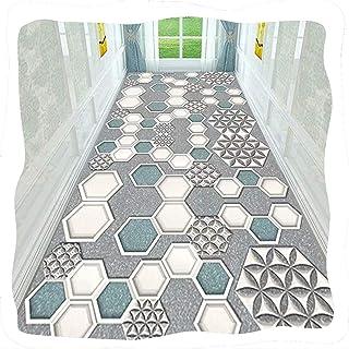 TTRY&ZHANG Tapis de runneur de couloir, support en caoutchouc antidérapant en microfibre tapis moderne pour la cuisson de ...