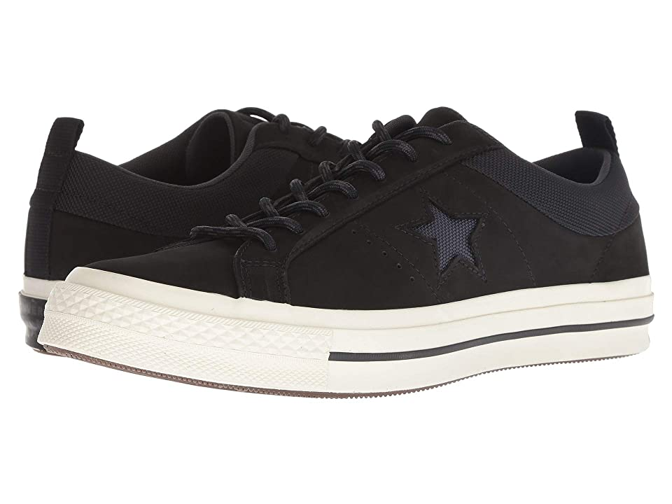 8701abb454f3 Converse One Star Ox (Black Almost Black Black) Men