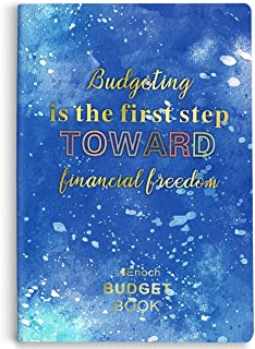 Lisol Budget Planner - Financial Planner Organizer Budget Book, Monthly Expense Tracker Planner Notebook with Debt Tracking, Quote Sheet and Stickers to Control Your Money, Start Anytime