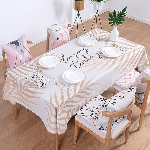 Küchenwäsche Baumwollleinenstofürechtecktischdecken Kaffeetischdecketischdecken Nordic-frische Tischdecken starke Anti-Heiße Tischdecken 100  140CM