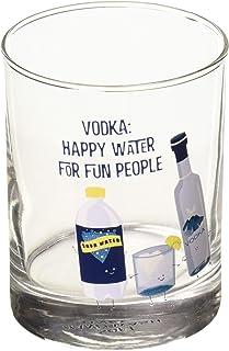 Pavilion Gift Company Vodka: Happy Water For Fun People-11 o 11 oz Rocks Glass, Blue