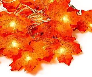 Beslop Maple Leaf String Lights, 20LED 7.2ft Battery Powered Harvest Fall Garlands String Light for Christmas Decorations,warmwhite