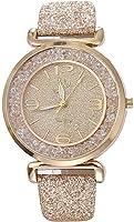Women Quartz Watch, Srogem Ladies Bling Wrist Watch Crystal Jewelry Bracelet Watches