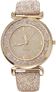 Women Quartz Watch, Srogem Ladies Bling Wrist Watch Crystal Jewelry Bracelet Watches