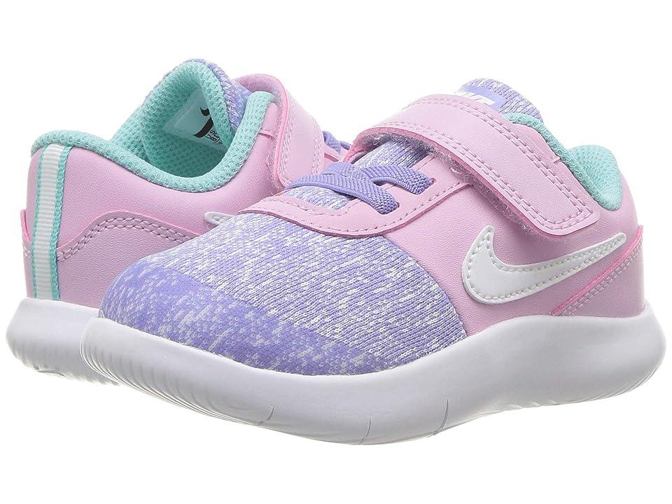 Nike Kids Flex Contact (Infant/Toddler) (Ocean Bliss/White/Light Aqua) Girls Shoes