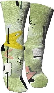 靴下 抗菌防臭 ソックス ミッドセンチュリーとエアストリームスポーツソックス、旅行&フライトソックス、塗装アートファニーソックス30センチメートル長い靴下