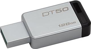 Pendrive DataTraveler 50 128GB, Kingston, Pendrives, Prata/Preto