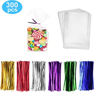 300 Pack Clear Treat Bags Clear Candy Bags 4