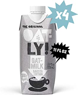 Oatly Barista Edition Oatmilk, 11 Ounce (4 Pack), Single Serve