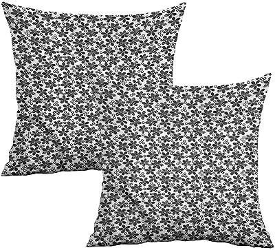Amazon.com: Khaki Home Funda de almohada geométrica cuadrada ...