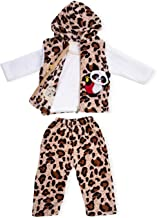 Bold N Elegant White Fur Animal Print Trio 3 Piece pc Winter Baby Boy Girl Clothing Set Full Sleeve T-Shirt with Hood Jack...