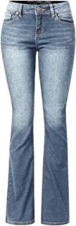 Design by Olivia Women's Sexy Stylish Flare Bell Bottom Slim Bootcut Jean