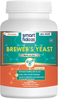 Smart Fido Smartfido Brewers Yeast Daily 500 Ct Tablets for Dogs with Garlic Zinc & Biotin, Supports Healthy Skin & Silky-Smooth Coat at All Ages