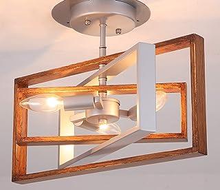 LLHZSY Semi Flush Mount Ceiling Light Fixtures Rustic...