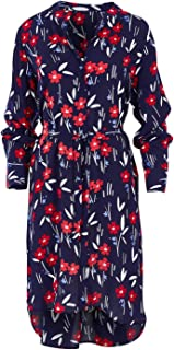 That Bird Label Womens Knee Length Dresses Billie Relaxed Shirt Dress Periwinkle