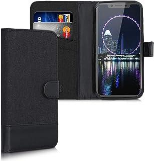 kwmobile 対応: Blackview BV9600 Pro ケース - スマホカバー 手帳型 PUレザー - 携帯 保護ケース カードポケット スタンド 付き