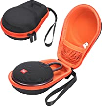 Hard Case for JBL Clip 3 Portable Bluetooth Carry Cover Bag Protective Box (Black+Orange)