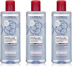 L'Oreal Paris Micellar Cleansing Water Normal to Dry Skin Facial Cleanser & Makeup Remover, 3 count