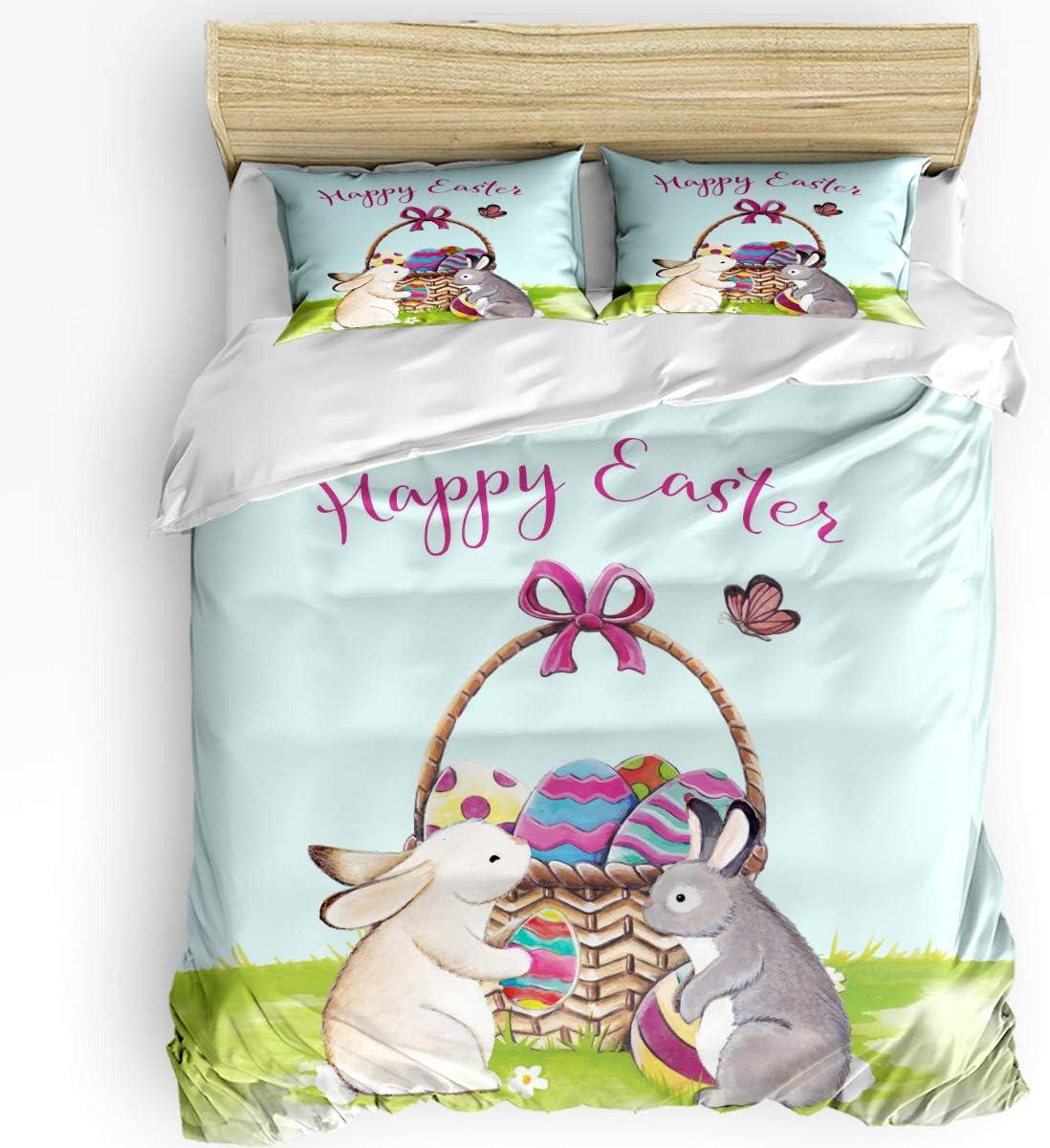 HELLOWINK Duvet Cover 3 Piece Bedding Regular discount Set Size Easte safety Happy King