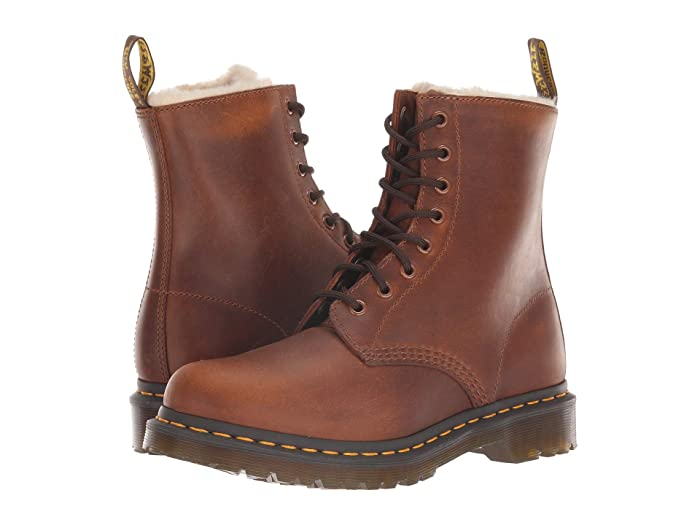 Vintage Boots, Retro Boots Dr. Martens 1460 Serena Core Ben Butterscotch Orleans Womens Boots $144.95 AT vintagedancer.com