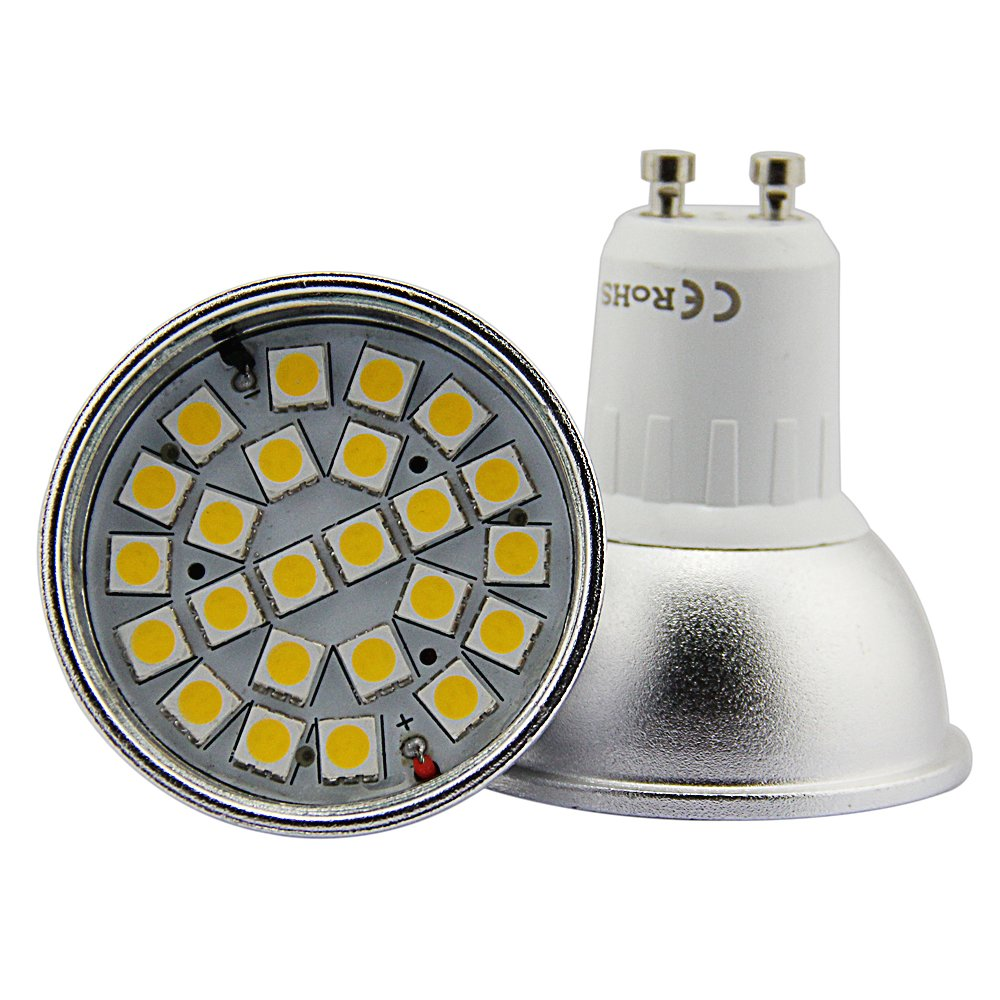 4 Unidades Bombilla LED Dimmable Standard GU10, 7 W ...