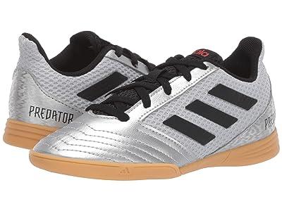 adidas Kids Predator 19.4 IN Sala Soccer (Little Kid/Big Kid) (Silver/Black/Hi-Red Red) Kids Shoes
