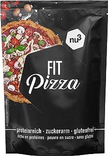 comprar comparacion nu3 Fit Pizza baja en carbohidratos - 270 g de harina para pizza proteica sin levadura - 100% pizza vegana y libre de glut...