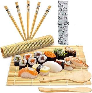 comprar comparacion BESTZY 10pcs Kit para Hacer Sushi de Bambú Preparar Sushi Fácil Y Profesional Con Este Juego