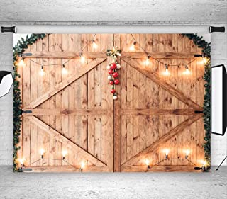 LB Rustic Barn Door Backdrops for Photography 9x6ft Wood Wall Photo Backdrops Customized Photo Background Studio Props