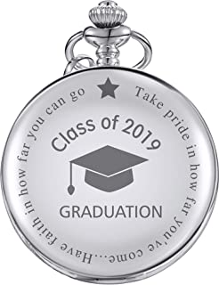Pocket Watch Class of 2019 Graduation Gift Personalized Engraved Graduation Gift with Storage Box