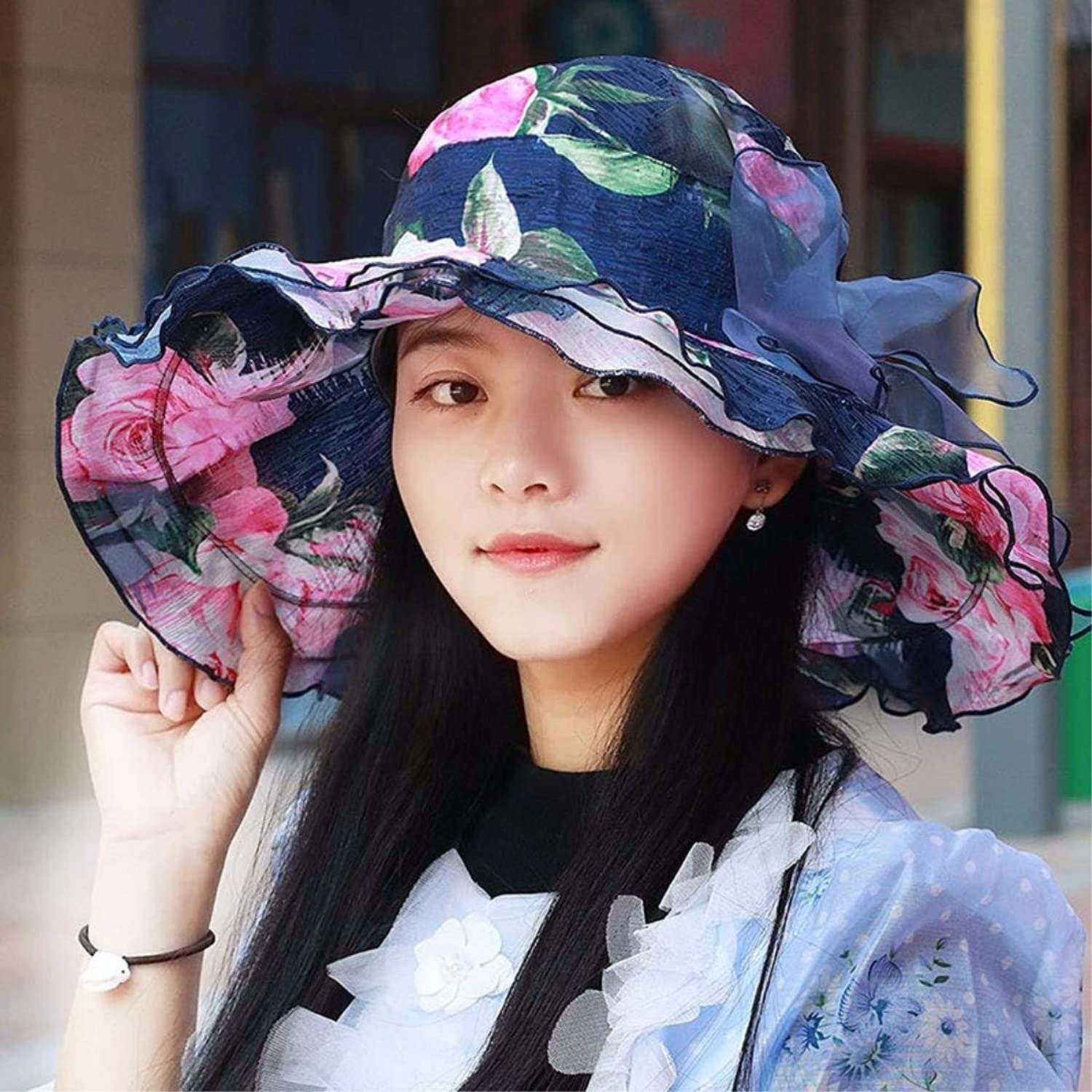 Dianye Hat, summer hat, summer hat, outdoor travel, sunscreen, large Beach Hat, breathable, folding ice shading cap,