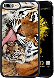iPhone 7 8 Plus Case Hard PC for Back Anti-Scratch Bumper Tiger Wallpaper Case, Sturdy and Protective Cushion Cover for Cell Phone iPhone 7 8 Plus