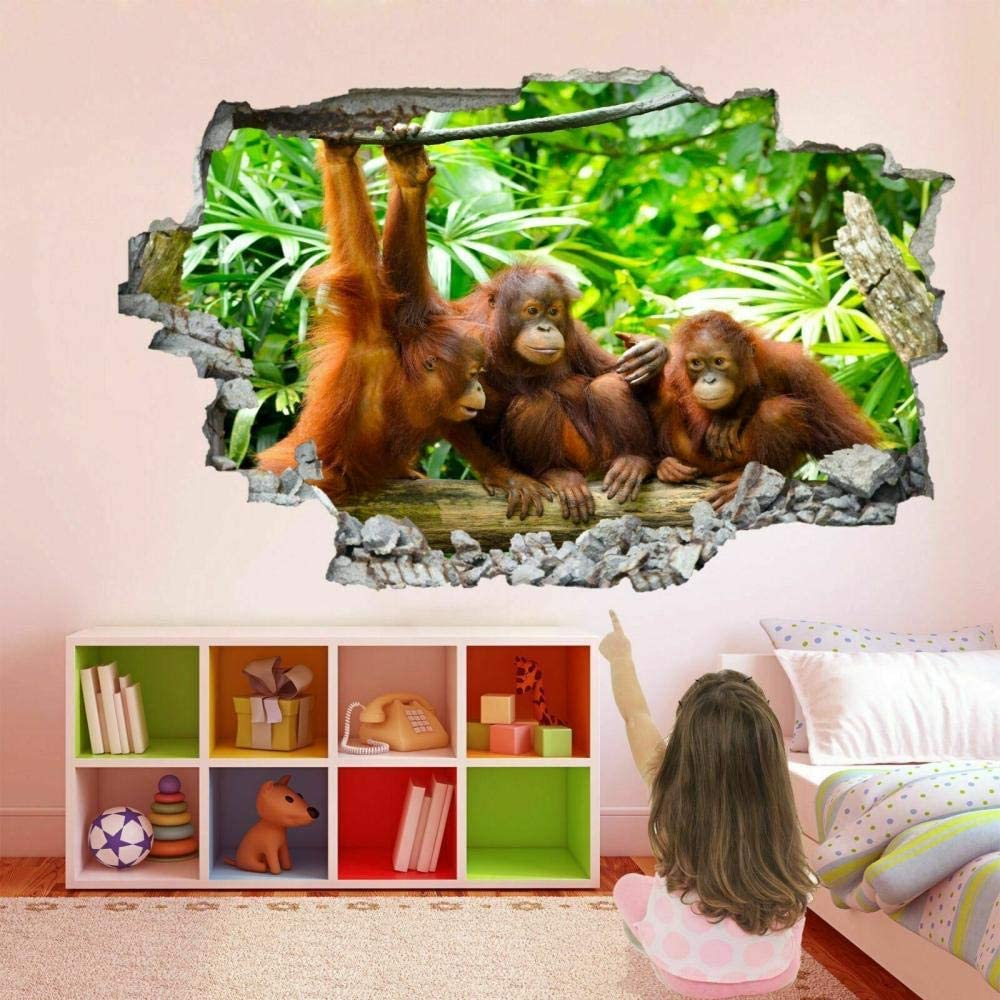 Manufacturer regenerated product LHHYY Wall Stickers Monkey Art Mural Animal Decal Genuine Free Shipping
