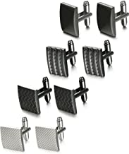 FIBO STEEL 4-6 Pairs Wedding Business Classic Cufflinks for Men Unique Cufflink Set Mens