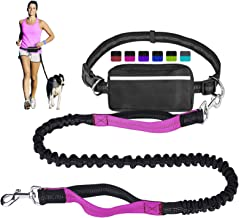 LANNEY Hands Free Dog Leash for Running Walking Training Hiking, Dual-Handle Reflective Bungee, Poop Bag Dispenser Pouch, ...