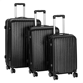 مجموعة حقائب سفر بعجلات من جيه بي، 3 قطع - اسود