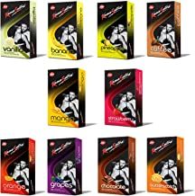 Kama Sutra Flavours Dotted Condoms - Pack of 10, 100 No's