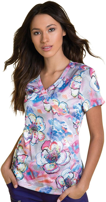 Koi Lite Women's Bliss VNeck Floral Print Scrub Top