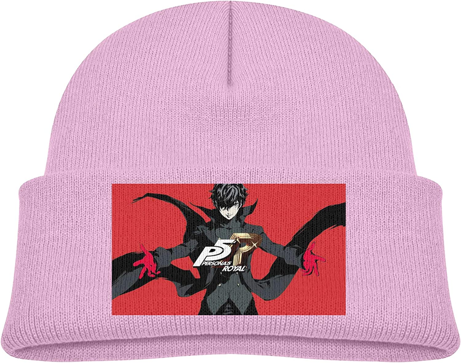 Persona 5 Royal Kids Stretchy Hedging Hat Skull Cap Winter Warm Cap Cover Ears Beanie,Child Knit Cap