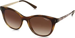 Vogue Vo5212S Women's Cat Eye Sunglasses, Dark Havana, 62 mm