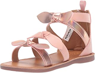 Girl's Winona Bow-Accented Strappy Sandal,