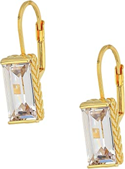 Cubic Zirconia Lever Back Earrings