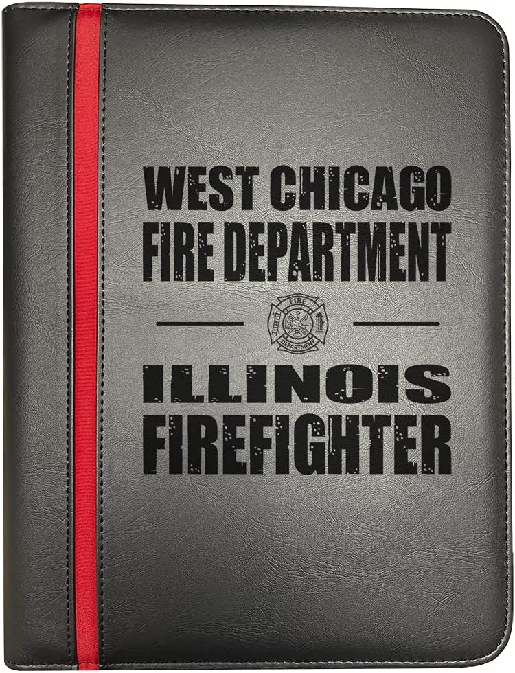 sold out West Max 87% OFF Chicago Illinois Fire Departments Red Firefighter Thin Line