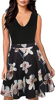 Women's Sleeveless Pockets V Neck Casual Cocktail Party Midi Dress X229