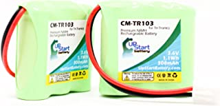 2 Pack - Replacement for Tri-Tronics Classic 70 S Battery - Compatible with Tri-Tronics CM-TR103 Dog Training Collar Battery (300mAh 3.6V NI-MH)