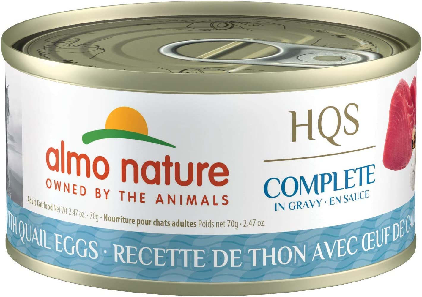 Almo Nature HQS Complete In Gravy, Grain Free, Adult Cat Canned Wet Food, Flaked (Pack of 24 x 2.47 oz/70g)